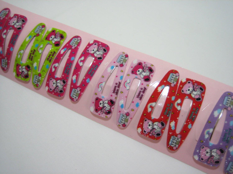 Wholesale 60pcs Teddy Bear and Toy House Girl Snap Hair Clip 4.5cm (hole)