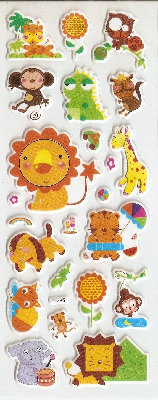 1 pack Animal  Design Small Puffy Sticker F285 FREE SHIPPING