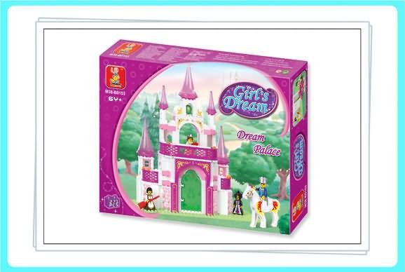 Pink Girl's Dream Palace Building Block fit lego SLUBAN