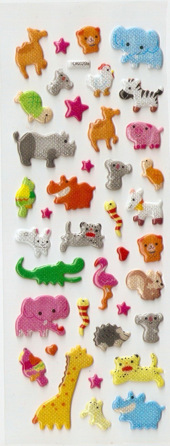 OK029a Animal  Design Mini Puffy Sticker FREE SHIPPING