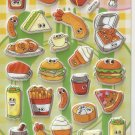 GZA1019 Delicious Food Mini Puffy Sticker FREE SHIPPING