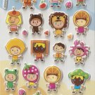 GZA1020 Masquerade Party Mini Puffy Sticker FREE SHIPPING