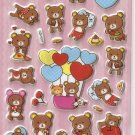 GZA1021 Story of Bear Mini Puffy Sticker FREE SHIPPING