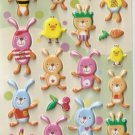 GZA1023 Story of Rabbit Mini Puffy Sticker FREE SHIPPING