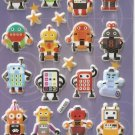 GZA1025 Robot World Mini Puffy Sticker FREE SHIPPING