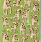 GZA1028 Story of Deer Mini Puffy Sticker FREE SHIPPING