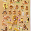 GZA1030 Story of Horse Mini Puffy Sticker FREE SHIPPING