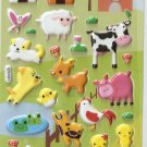 GZA1031 Story of Farmyard Mini Puffy Sticker FREE SHIPPING