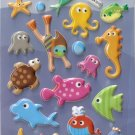 GZA1015 Friend & Sea Mini Puffy Sticker FREE SHIPPING