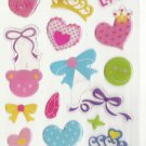 DON1005 Bow Love & Crown Mini Epoxy Sticker FREE SHIPPING