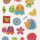 DON1009 Hedges & Turtles Mini Epoxy Sticker FREE SHIPPING