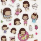 DON1019 Best Friends Mini Epoxy Sticker FREE SHIPPING