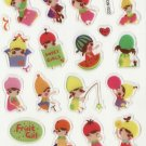 DON1022 Fruit Girls Mini Epoxy Sticker FREE SHIPPING