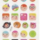 DON1003 Kids Faces Mini Epoxy Sticker FREE SHIPPING
