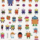 KDT1013 My Robot Friends Mini Epoxy Sticker FREE SHIPPING