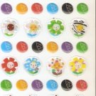 DON1027 Bees & Flowers Mini Epoxy Sticker FREE SHIPPING