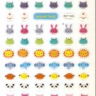 KDT1022 Animal Face Mini Epoxy Sticker FREE SHIPPING