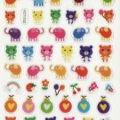 KDT1032 Bear Elephant & Bug Epoxy Sticker FREE SHIPPING