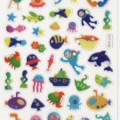 KDT1038 Yellow Submarine Mini Epoxy Sticker FREE SHIPPING