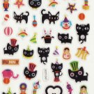 KDT1047 Animal Black Cat Circus Mini Epoxy Sticker FREE SHIPPING