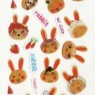 WY004 Animal Cute Rabbit Mini Epoxy Sticker FREE SHIPPING