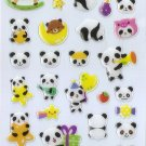 QIQ1002 Animal Panda Rocking Horse Mini Epoxy Sticker FREE SHIPPING
