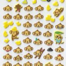 EC010 Monkey Banana Mini Puffy Sticker FREE SHIPPING