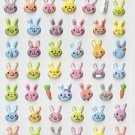 HAP1008 Animal Rabbits Mini Puffy Sticker FREE SHIPPING