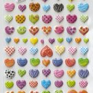 HAP1015 Assorted Heart Mini Puffy Sticker FREE SHIPPING