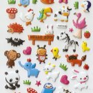 HAP1018 Hello Zoo Mini Puffy Sticker FREE SHIPPING