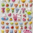 HAP1024 Bear Rabbit Cats Mini Puffy Sticker FREE SHIPPING
