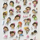 HAP1029 Happy Girl Mini Puffy Sticker FREE SHIPPING