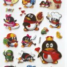 HAP1054 Animal Penguin Mini Puffy Sticker FREE SHIPPING