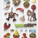CHA1009 Plants & Zombie Mini Puffy Sticker FREE SHIPPING