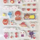 CHA1010 I am Happy Mini Puffy Sticker FREE SHIPPING