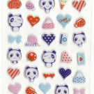 CHA1011 Panda Love Mini Puffy Sticker FREE SHIPPING