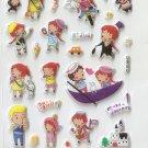CHA1012 Boys & Girls Mini Puffy Sticker FREE SHIPPING