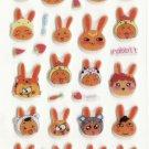 CHA1020 Rabbit Head Mini Puffy Sticker FREE SHIPPING