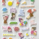 CHA1021 Friends Mini Puffy Sticker FREE SHIPPING