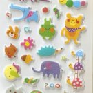 CHA1023 Animals Zoo Mini Puffy Sticker FREE SHIPPING