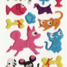 SO 068 Dogs & Cats Favourite Mini Sticker FREE SHIPPING