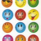 SO 051 Smiley Colour Mini Puffy Sticker FREE SHIPPING