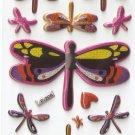 F209 Dragonfly Mini Puffy Sticker FREE SHIPPING