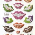 F231 Kisses Mini Puffy Sticker FREE SHIPPING
