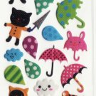 SO 072 Black Cat In Rain Mini Puffy FREE SHIPPING