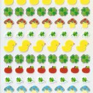 TMP1012 Four Leaves Apples Chicks Mini Bronzing Sticker FREE SHIPPING