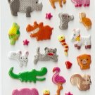 OK029a Animal Zoo Mini Puffy Sticker FREE SHIPPING