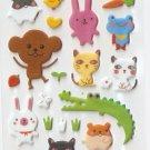 OK027c Monkey & Fog Mini Puffy Sticker FREE SHIPPING