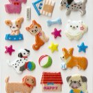 OK029d Dog Cute Mini Puffy Sticker FREE SHIPPING