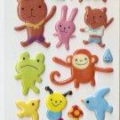 OK003B_OK050a Animal  Mini Puffy Sticker FREE SHIPPING